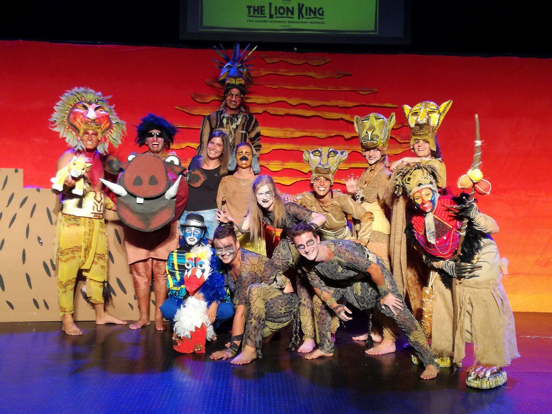 Animátorka Karolína na Rodose - Lion King show