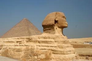 Egypt sfinga a pyramída