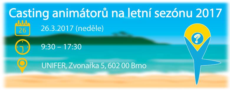 Casting animátorů AnimationPoint - Řecko a Kypr v Brně