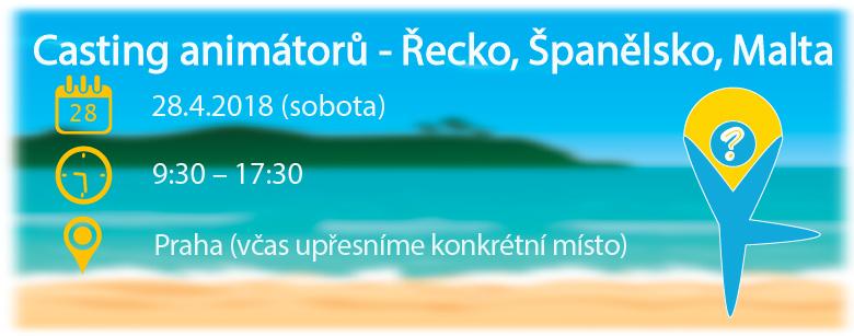 Casting animátorů AnimationPoint - Řecko, Španělsko, Malta v dubnu