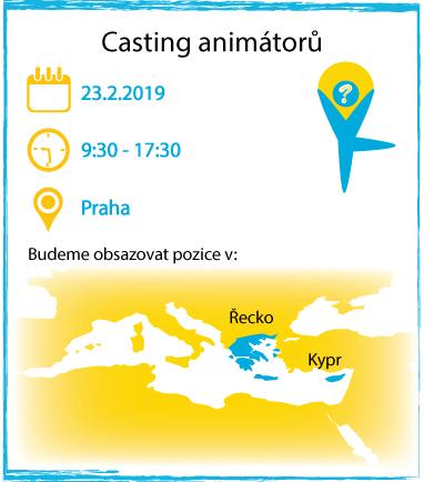 Casting animátorů AnimationPoint - únor 2019 mapa
